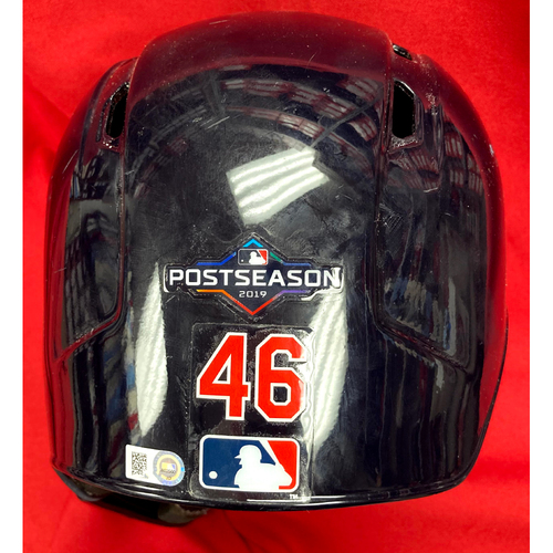 Photo of Paul Goldschmidt Autographed Team Issued 2019 Postseason Navy Batting Helmet