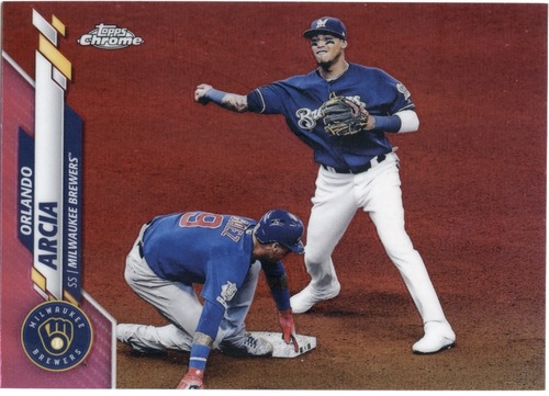 Photo of 2020 Topps Chrome Pink Refractors #140 Orlando Arcia