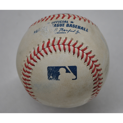 Photo of Game-Used Baseball - 2020 ALDS - New York Yankees vs. Tampa Bay Rays - Game 1 - Pitcher: Blake Bell, Batter: Kyle Higashioka (Home Run to LF) - Top 5