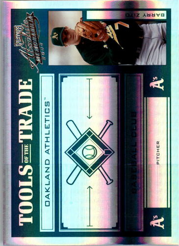Photo of 2004 Absolute Memorabilia Tools of the Trade Green Spectrum #18 Barry Zito Alt