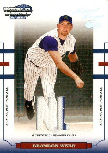 Photo of 2004 Donruss World Series Material Fabric AL/NL #7 Brandon Webb Pants