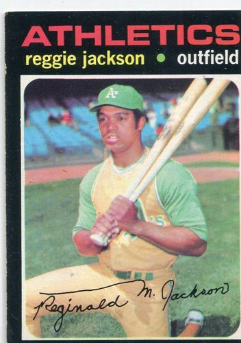 Photo of 1971 Topps #20 Reggie Jackson -- Hall of Famer