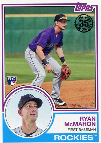 Photo of 2018 Topps '83 Topps #8376 Ryan McMahon
