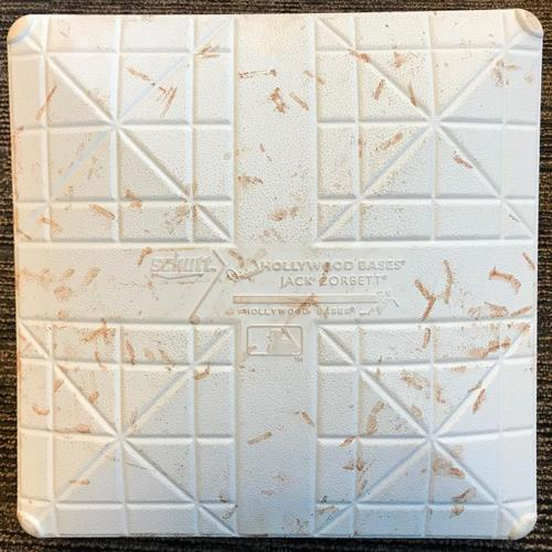 Photo of Game-Used 2nd Base from Pirates vs. Brewers on 7/13/18 - Heritage Night