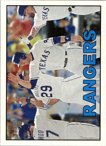 Photo of 2016 Topps Heritage #355 Texas Rangers