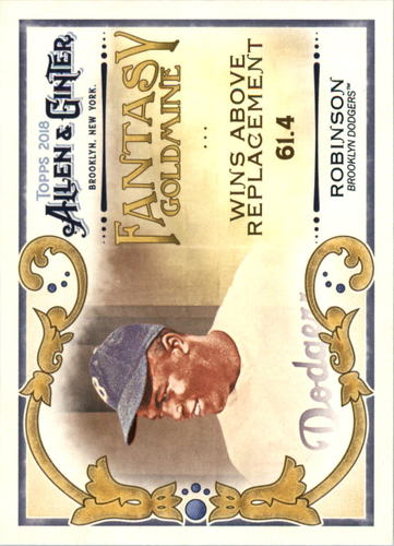 Photo of 2018 Topps Allen and Ginter Fantasy Goldmine #FG3 Jackie Robinson