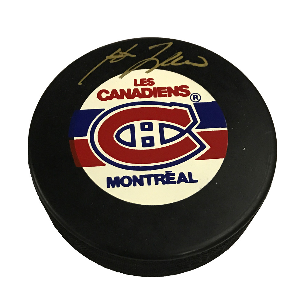 GUY LAFLEUR Signed Montreal Canadiens Puck in Gold