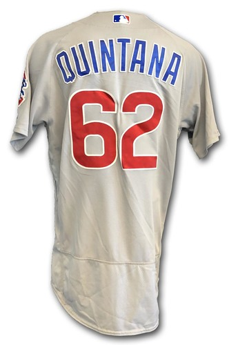 Photo of Jose Quintana Game-Used Jersey -- Opening Day 2018 -- Cubs at Marlins -- 3/29/18