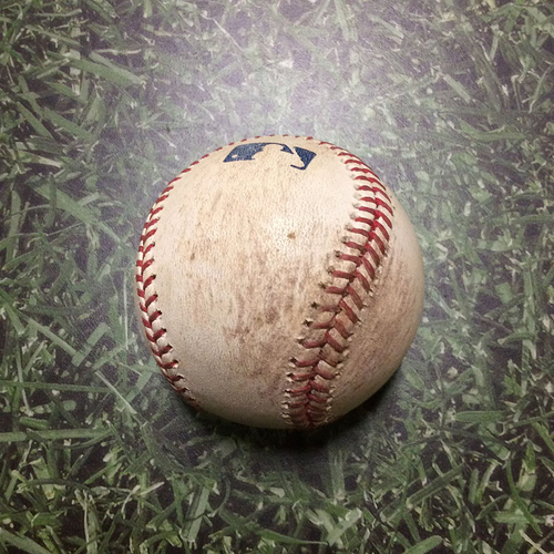 Photo of Game-Used Baseball TB@MIL 06/22/11 - David Price - Prince Fielder: Foul