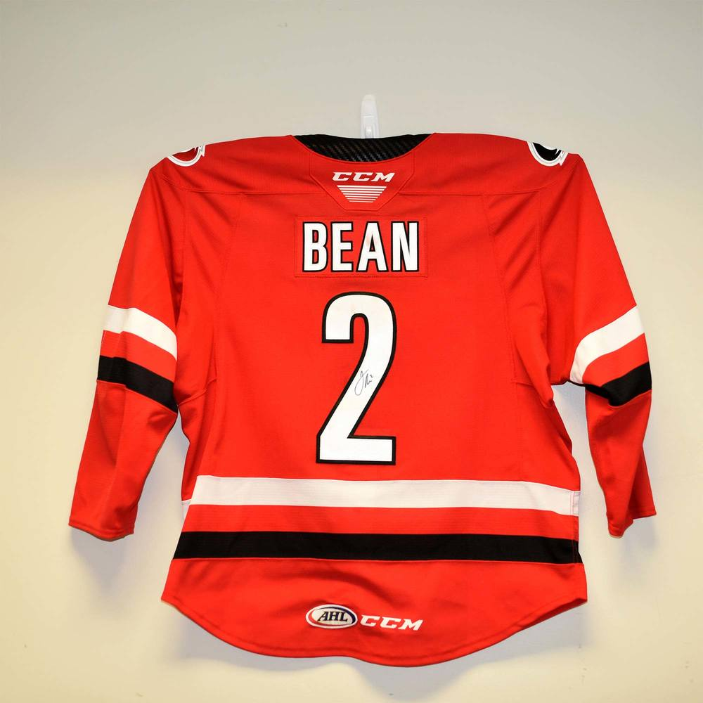 Charlotte Checkers 2019 Calder Cup Finals Game 1 Jersey Worn and Signed by #2 Jake Bean