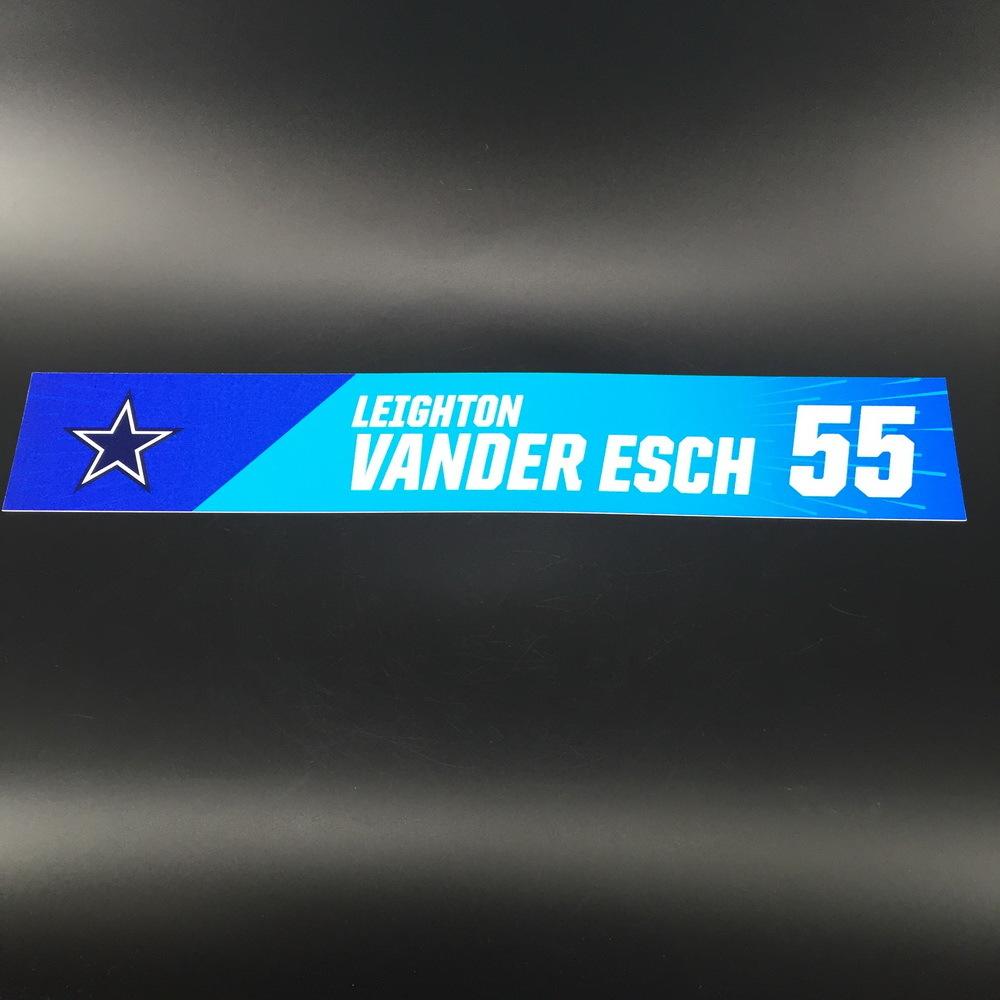 NFL - Cowboys Leighton Vander Esch Pro Bowl 2019 Locker Room Plate