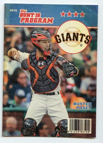 Photo of 2016 Topps Bunt Programs #P18 Buster Posey