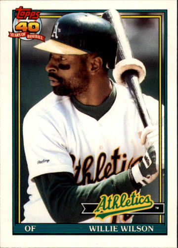 Photo of 1991 Topps Traded #129T Willie Wilson