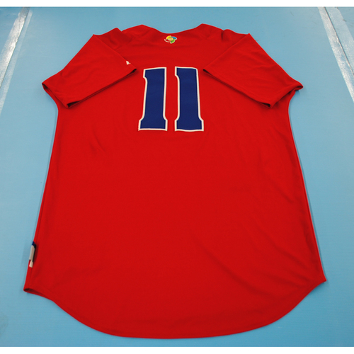 Photo of 2013 World Baseball Classic: Cuba Batting Practice Jersey #11 - Erisbel Arruebarruena - Size 46