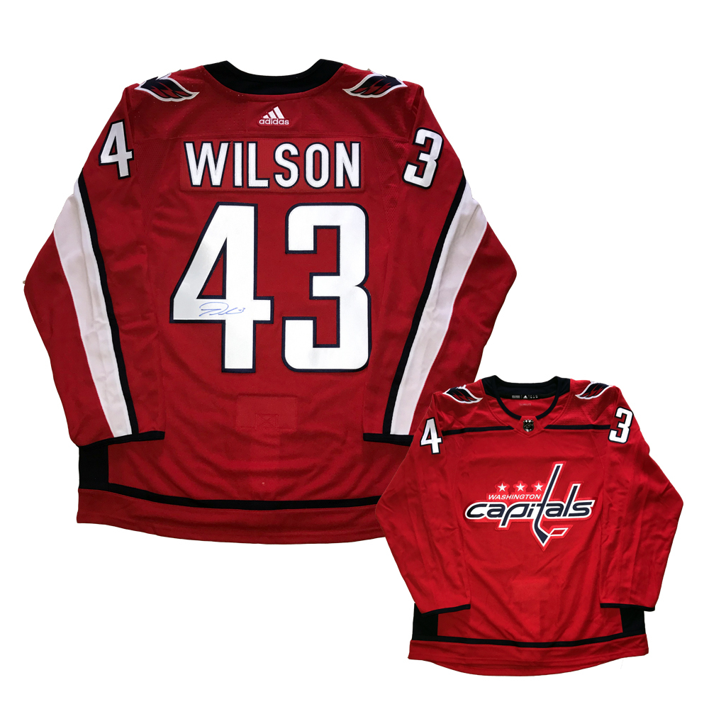 TOM WILSON Signed Washington Capitals Red Adidas PRO Jersey