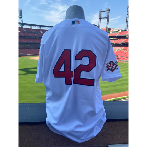 Photo of Cardinals Authentics: Team Issued Mike Shildt Jackie Robinson Day Jersey