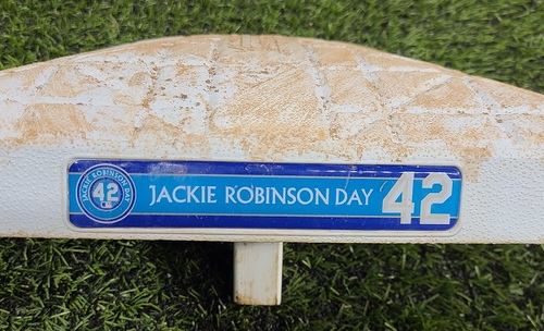 Photo of CHARITY AUCTION: Authenticated Game Used #42 Base: 2nd Base for Innings 4 to 6 (Aug 28, 20). In Place for Guerrero Jr. and Hernandez Home Runs.