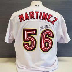 Photo of Jose Martinez Autographed Game-Worn Memphis Redbirds 2019 Home Jersey