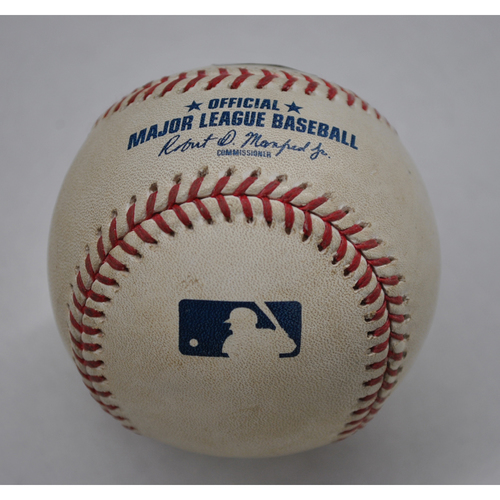 Photo of Game-Used Baseball - 2020 ALDS - Tampa Bay Rays vs. New York Yankees - Game 3 - Pitcher: Chad Green, Batter: Michael Perez (Home Run to LF) - Top 6
