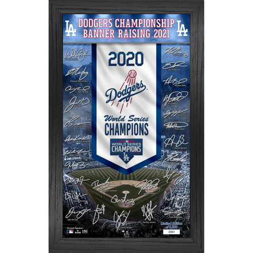 Photo of SERIAL #1 - Los Angeles Dodgers Commemorative Deluxe Championship Banner Collection