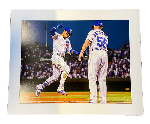 Photo of Clubhouse Photo -- Baez Home Run -- Size 24 X 30 in.