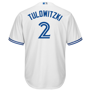 Toronto Blue Jays Cool Base Replica Troy Tulowitzki Home Jersey by Majestic
