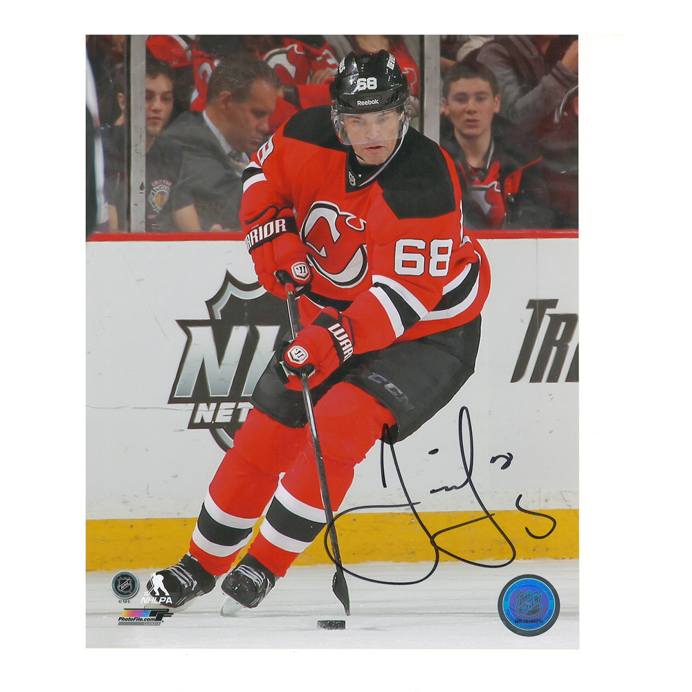 JAROMIR JAGR Signed New Jersey Devils 8 X 10 Photo - 70313