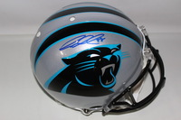 PANTHERS - GREG OLSEN SIGNED PANTHERS PROLINE HELMET