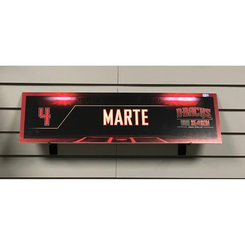 2017 NL Wild Card Ketel Marte Game-Used Locker Nameplate