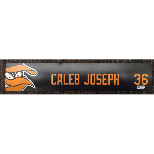 Caleb Joseph - 2017 Locker Tag: Team-Issued