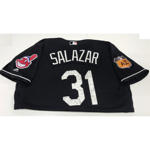 Photo of Danny Salazar 2017 Spring Training Jersey