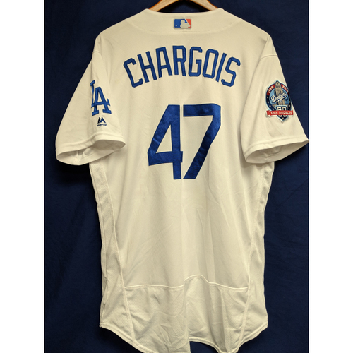 Photo of JT Chargois Game-Used Home Jersey from Regular Season Tie Breaker Game - COL vs LAD - 10/1/18