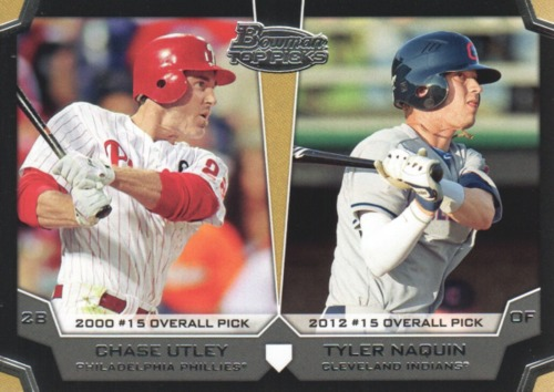 Photo of 2012 Bowman Draft Dual Top 10 Picks #UN Tyler Naquin/Chase Utley