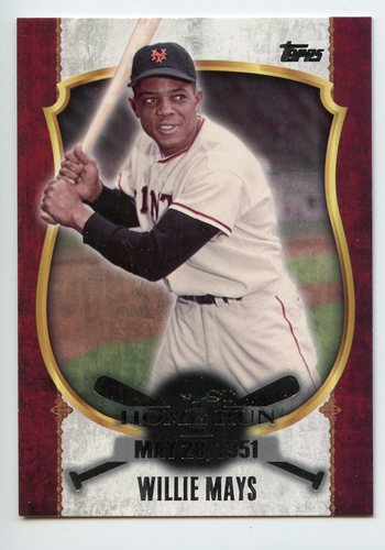 Photo of 2015 Topps Update First Home Run Silver #FHR16 Willie Mays