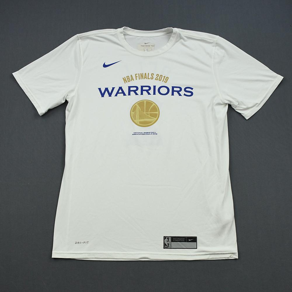 Jordan Bell - Golden State Warriors - 2019 NBA Finals - Game-Issued Short-Sleeved Shooting Shirt