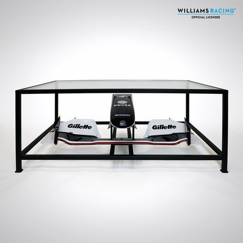 Photo of Williams Wind Tunnel 2009 Nose and Front Wing Table with 2011 Livery