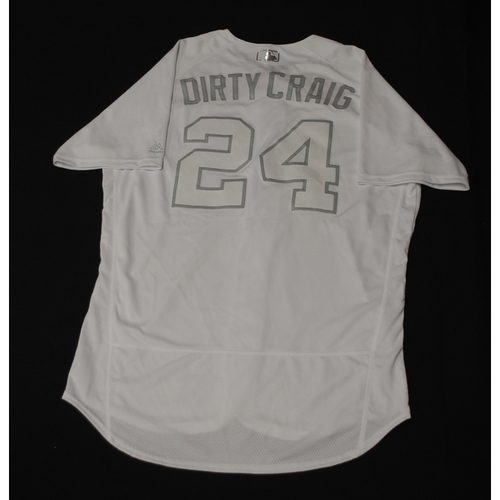 """Photo of Craig """"DIRTY CRAIG"""" Kimbrel Chicago Cubs Game-Used 2019 Players' Weekend Jersey"""