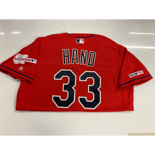 Photo of Brad Hand 2019 Team Issued Alternate Home Jersey with ASG Patch