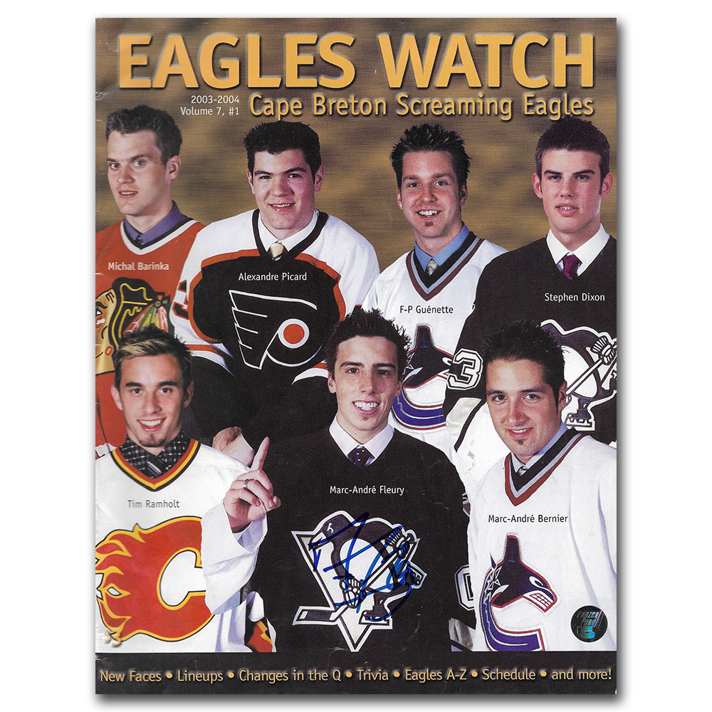 Marc-Andre Fleury Autographed Cape Breton Program - Volume 7 Issue 1