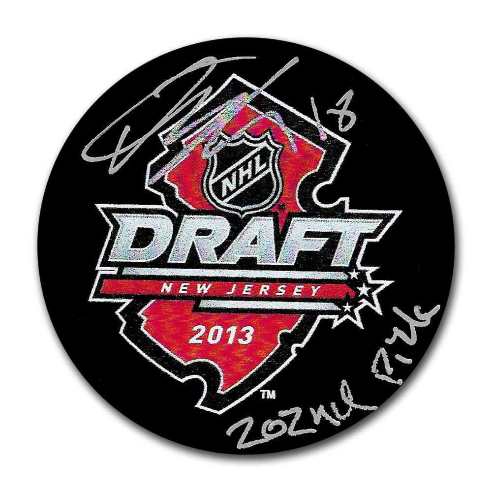 Andreas Johnsson Autographed 2013 NHL Entry Draft Puck w/202ND PICK Inscription