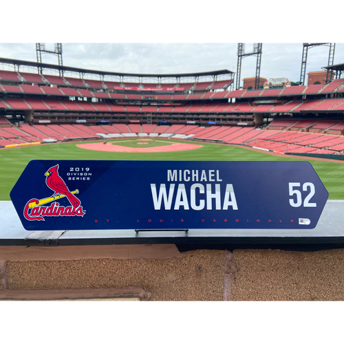 Cardinals Authentics: Michael Wacha Team Issued NLDS Locker Nameplate