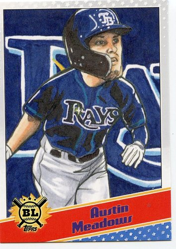 Photo of 2020 Topps Big League Star Caricature Reproductions #SCOAM Austin Meadows