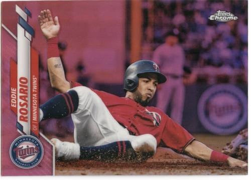 Photo of 2020 Topps Chrome Pink Refractors #78 Eddie Rosario