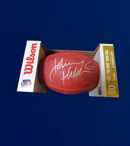Photo of Johnny Hekker Signed Authentic Football