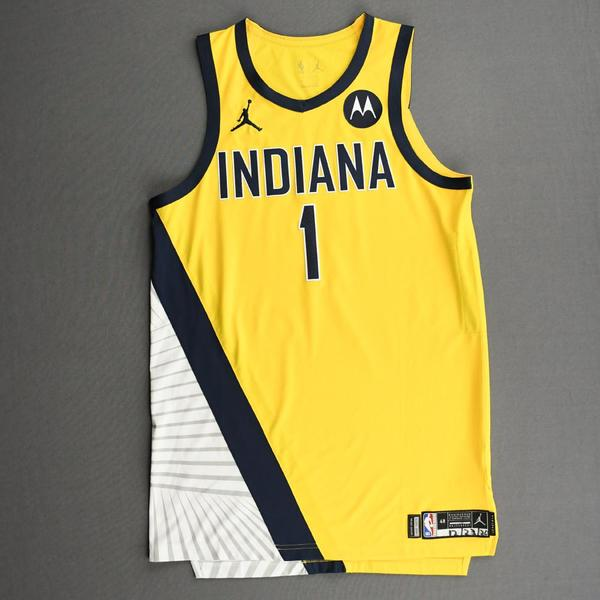 Image of T.J. Warren - Indiana Pacers - Kia NBA Tip-Off 2020 - Game-Worn Statement Edition Jersey