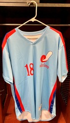 Photo of Jacksonville Expos Fauxback Jersey #18 Size 46