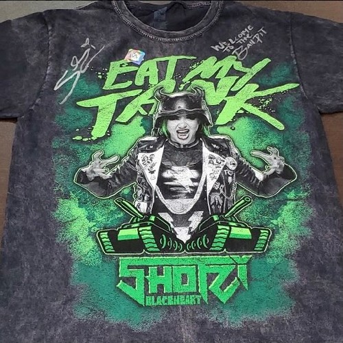"Photo of Shotzi Blackheart SIGNED ""Eat My Tank"" Mineral Wash T-Shirt (Welcome To The Ball Pit)"