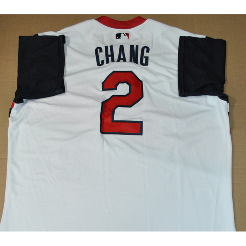 Photo of Game-used Jersey - 2021 Little League Classic - Los Angeles Angels vs. Cleveland Indians - 8/22/2021 - Great Lakes, Yu Chang #2