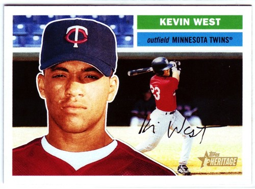 Photo of 2005 Topps Heritage #396 Kevin West RC