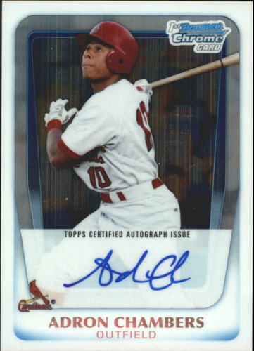 Photo of 2011 Bowman Chrome Prospect Autographs #BCP90 Adron Chambers